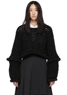 Noir Black Round Articulations Sweater