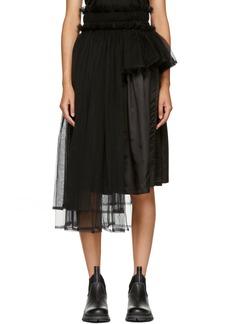 Noir Black Side Tulle Skirt