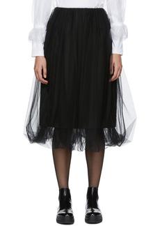 Noir Black Tulle Overlay Skirt