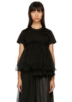 Noir Black Tulle Peplum T-Shirt