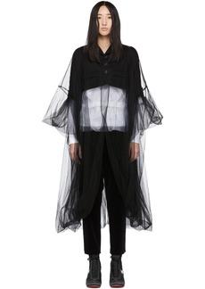 Noir Black Tulle Short Blazer
