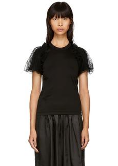 Noir Black Tulle Sleeve T-Shirt