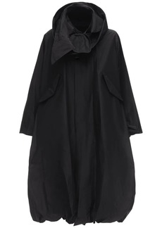 Noir Cotton & Silk Taffeta Jacket
