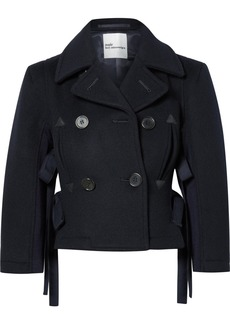 Noir Double-breasted Cropped Wool Jacket