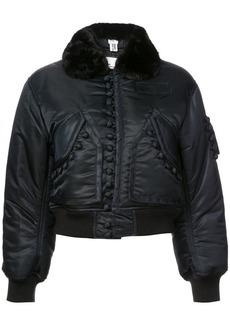 Noir fur trimmed jacket