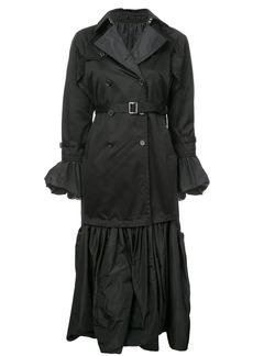 Noir gothic style trench coat