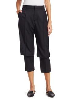 Noir High-Rise Wool & Cashmere Gabardine Trousers