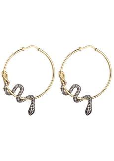 Noir Cubic Zirconia Snake Wrapped Hoop Earring