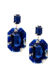 Noir Double Octagon Stone Drop Earrings