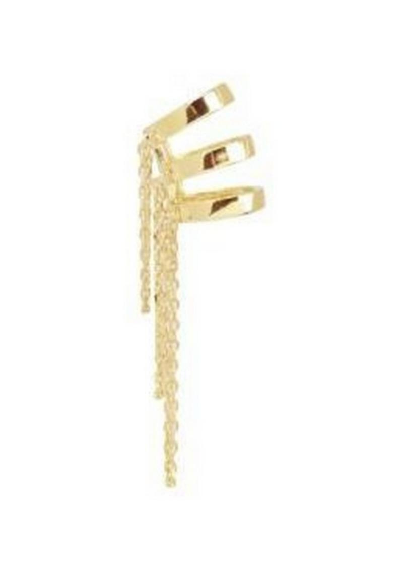 Noir Gold Fringe Ear Cuff