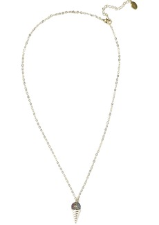 Noir Jewelry Woman 14-karat Gold-plated Crystal And Enamel Necklace Gold