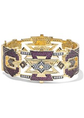Noir Jewelry Woman 14-karat Gold-plated Crystal Bracelet Gold