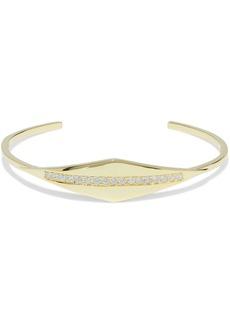 Noir Jewelry Woman 14-karat Gold-plated Crystal Cuff Gold