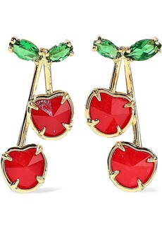 Noir Jewelry Woman 14-karat Gold-plated Crystal And Stone Earrings Gold