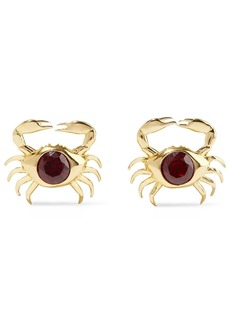Noir Jewelry Woman Coco Crab 14-karat Gold-plated Crystal Earrings Gold