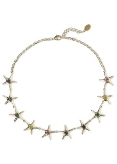 Noir Jewelry Woman 14-karat Gold-plated Crystal Necklace Gold
