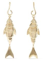 Noir Jewelry Woman Hook Line And Sinker 14-karat Gold-plated Earrings Gold