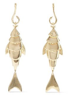 Noir Jewelry Woman Hook Line And Sinker 14-karat Gold-plated Earrings Gold