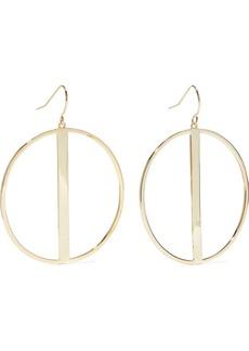 Noir Jewelry Woman 14-karat Gold-plated Hoop Earrings Gold