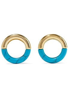 Noir Jewelry Woman 14-karat Gold-plated Resin Earrings Gold