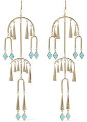 Noir Jewelry Woman 14-karat Gold-plated Stone Earrings Gold