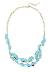 Noir Jewelry Woman Afterglow 14-karat Gold-plated Stone Necklace Turquoise