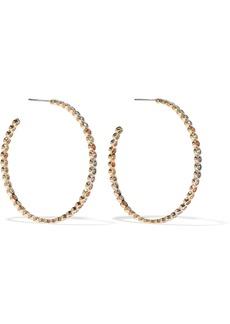 Noir Jewelry Woman Baria 14-karat Gold-plated Crystal Hoop Earrings Gold