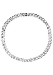 Noir Jewelry Woman Chain Gang Rhodium-plated Crystal Choker Silver