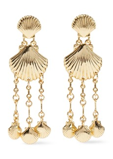 Noir Jewelry Woman Clam Bake 14-karat Gold-plated Earrings Gold