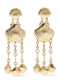 Noir Jewelry Woman Clam Bake 14-karat Gold-plated Earrings Gold