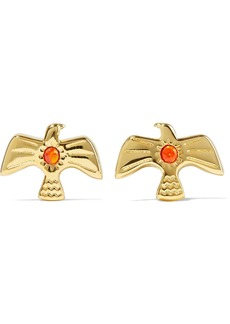 Noir Jewelry Woman 14-karat Gold-plated Stone Earrings Gold