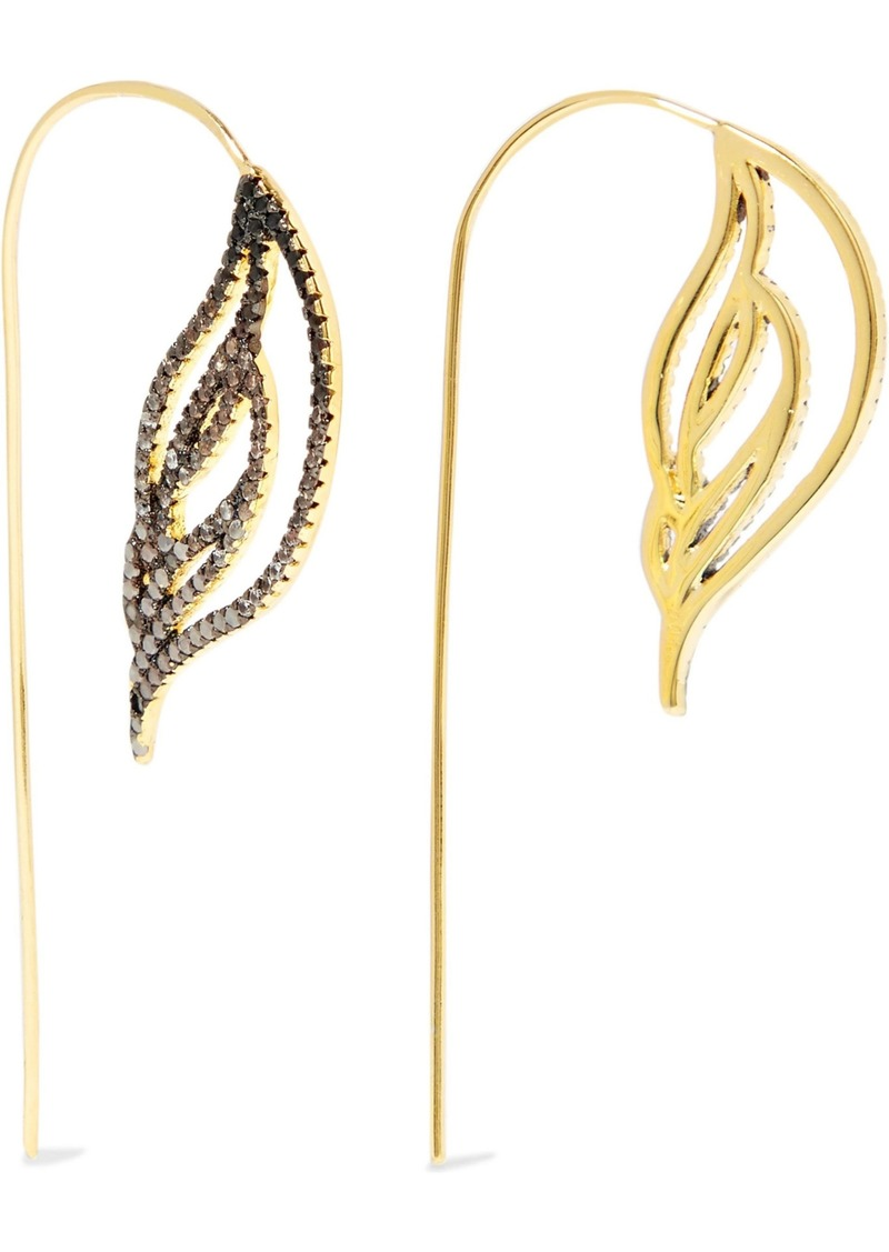 Noir Jewelry Woman Ember 18-karat Gold-plated Crystal Earrings Gold