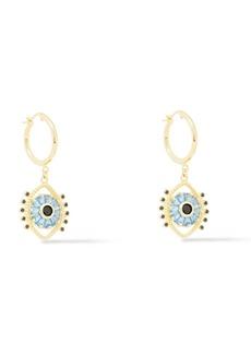 Noir Jewelry Woman Gold-tone Crystal Earrings Gold