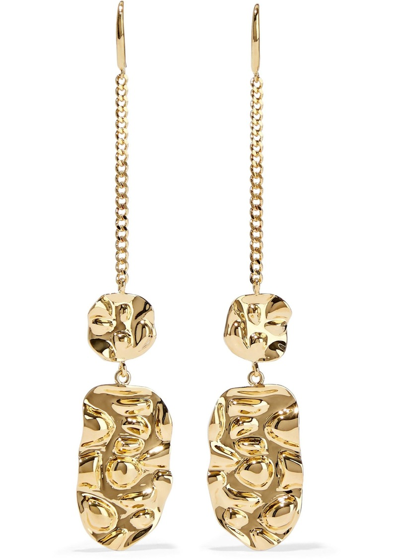 Noir Jewelry Woman Gold-tone Earrings Gold