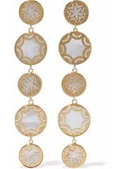 Noir Jewelry Woman Gold-tone Faux Pearl Earrings Gold