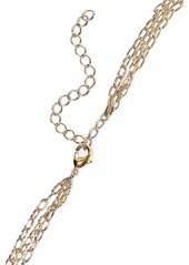 Noir Jewelry Woman 14-karat Gold-plated Stone Necklace Gold