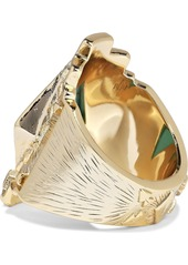 Noir Jewelry Woman 14-karat Gold-plated Stone Ring Gold