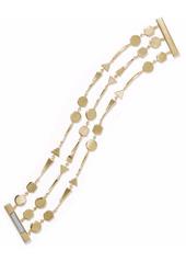 Noir Jewelry Woman Grid Work 14-karat Gold-plated Bracelet Gold