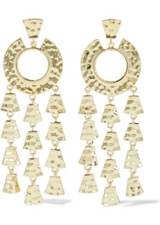 Noir Jewelry Woman Hammered 14-karat Gold-plated Earrings Gold