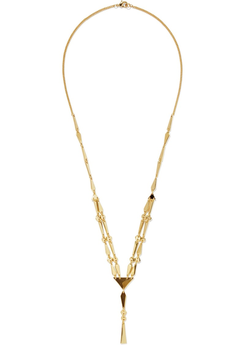 Noir Jewelry Woman Make A Connection 14-karat Gold-plated Necklace Gold