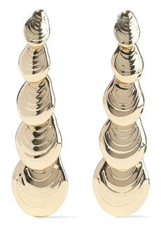 Noir Jewelry Woman On The Half Shell 14-karat Gold-plated Earrings Gold