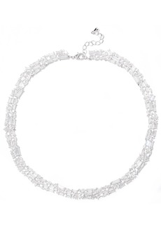 Noir Jewelry Woman Récolter Rhodium-plated Crystal Choker Silver