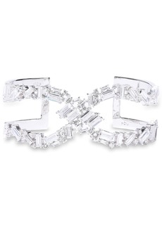 Noir Jewelry Woman Récolter X Rhodium-plated Crystal Cuff Silver