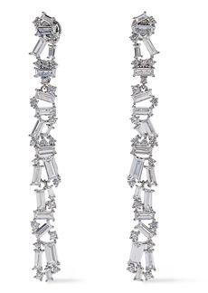 Noir Jewelry Woman Rhodium-plated Crystal Earrings Silver