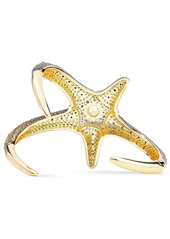 Noir Jewelry Woman Saboga Starfish 14-karat Gold-plated Crystal Cuff Gold
