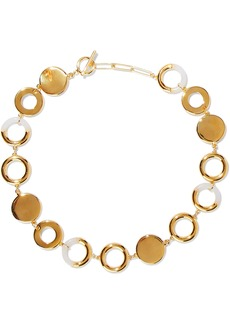Noir Jewelry Woman Steady Glow 14-karat Gold-plated Resin Necklace Gold