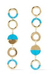 Noir Jewelry Woman Steady Glow 14-karat Gold-plated Stone Earrings Gold