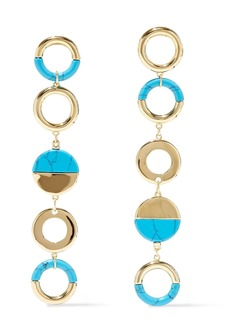 Noir Jewelry Woman Steady Glow 14-karat Gold-plated Stone Earrings Gold
