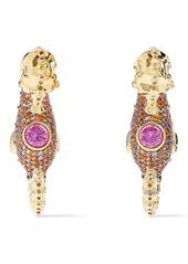 Noir Jewelry Woman Tasman Seahorse 14-karat Gold-plated Crystal Earrings Gold