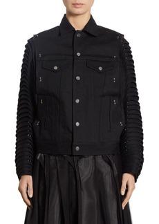 noir kei ninomiya Accordion Sleeve Denim Moto Jacket